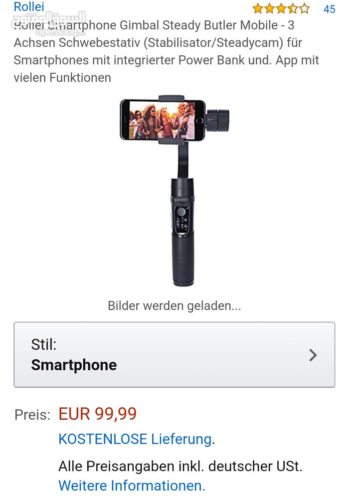 Rollei Smartphone Gimbal Steady Butler Mobile