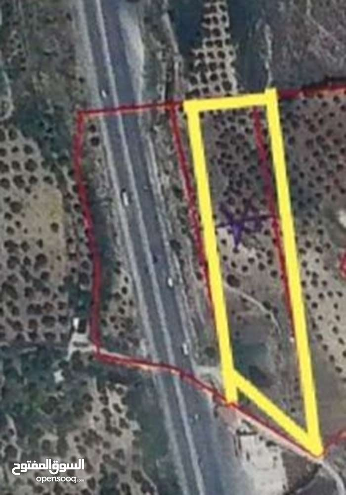 أرض تجاري على الشارع الرئيسي بالقرب من جامعة جرش