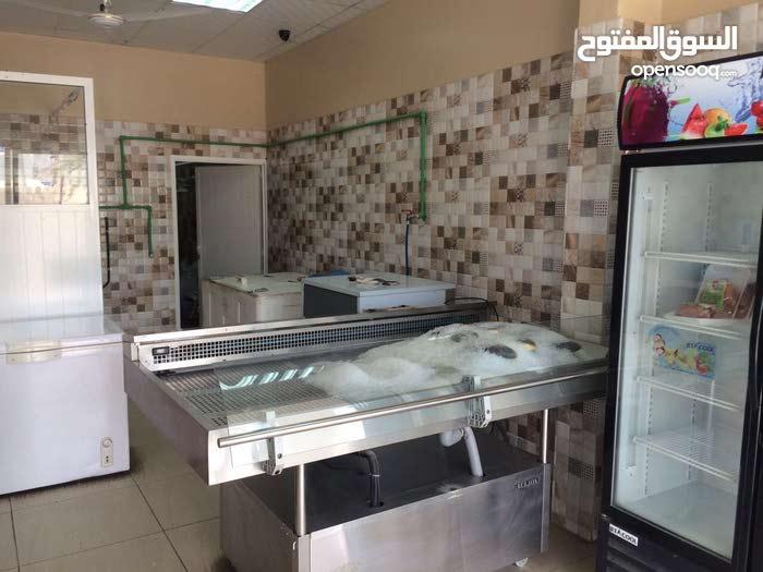 محل للبيع: بيع الأسماك والدواجن واللحوم