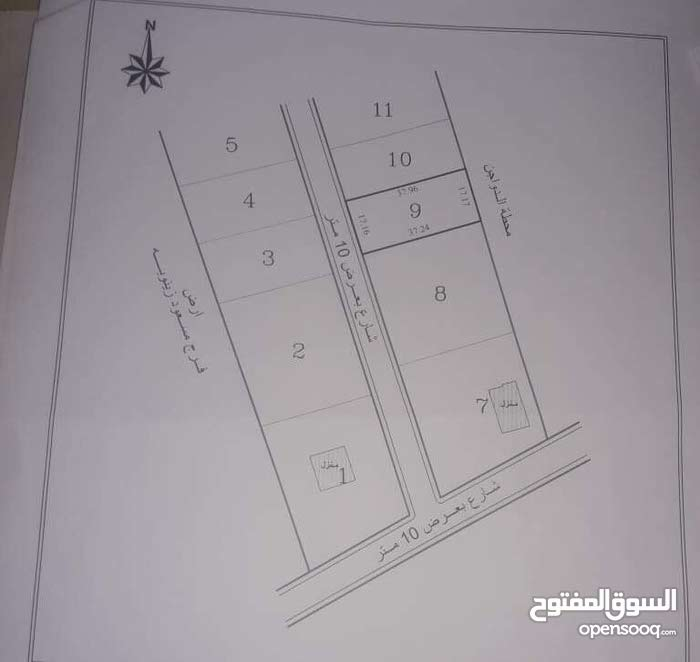 أرض سكنيه في الهواري خلف محطة البنزين ومطعم الخشمي قريبه من الرئيسي
