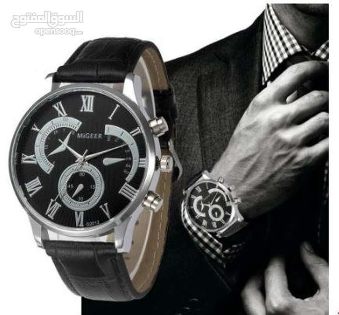 ساعة رجالية ماركة MIGEER ( ذهبي ، فضي )