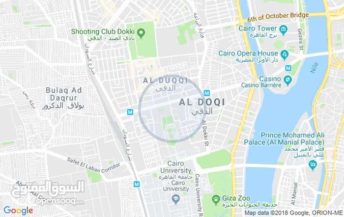 ارض بالدقي 600 متر تبعد عن شارع التحرير ب 300 متر