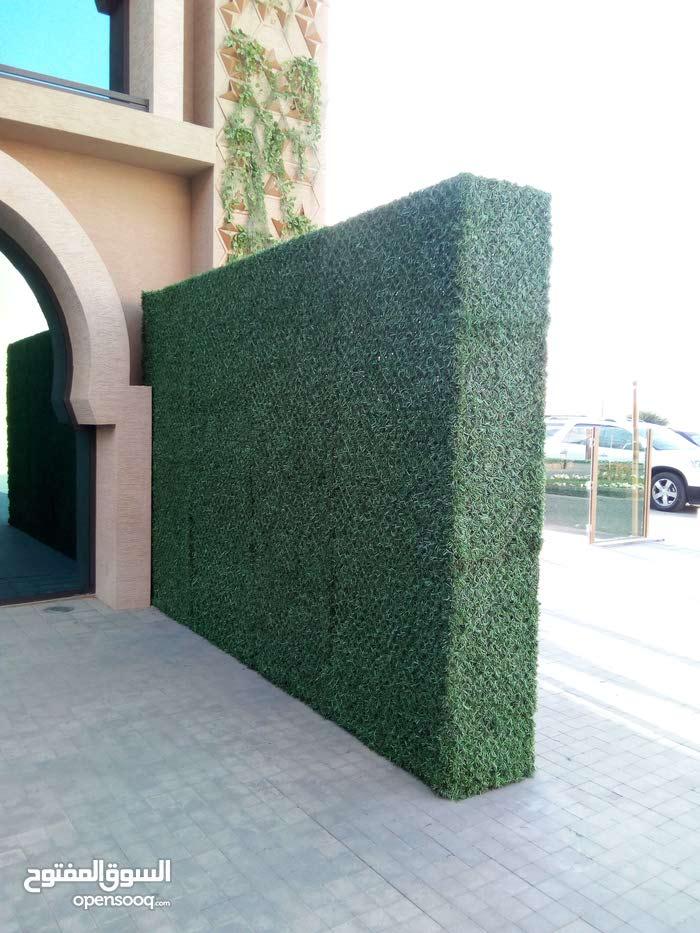 السياج العشبى والعشب الجدارى المعدنى الان بالرياض 0541635359