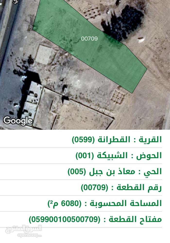 ارض تجاري واجهه 60م على شارع عمان العقبه مقابل استراحة البتراء في للواء القطرانه