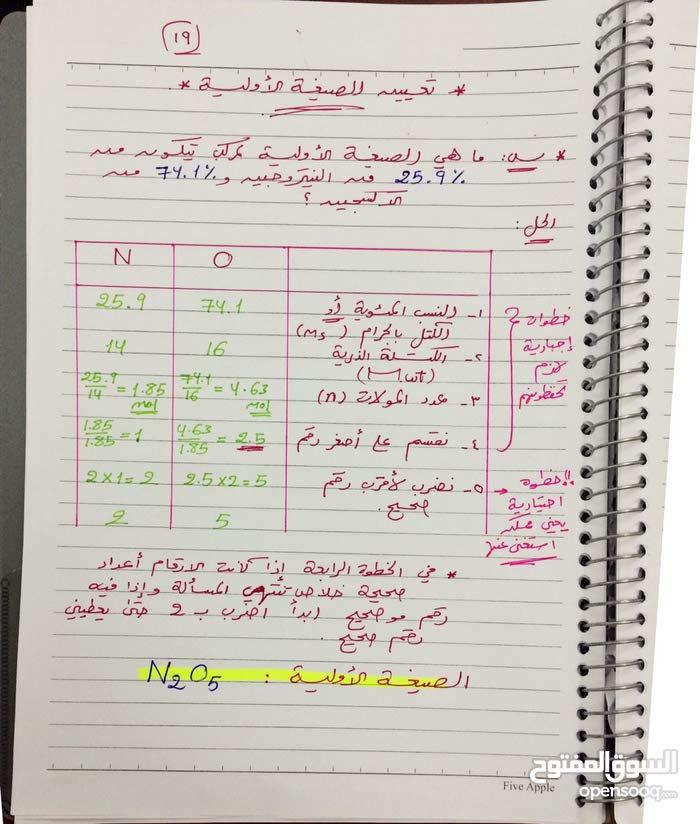 مدرس سوري الفيزياء والكيمياء