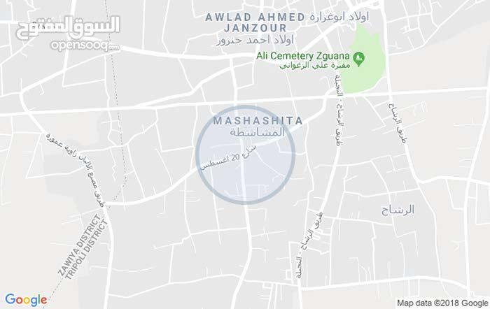 قطعة ارض للبيع جنزور المشاشطه
