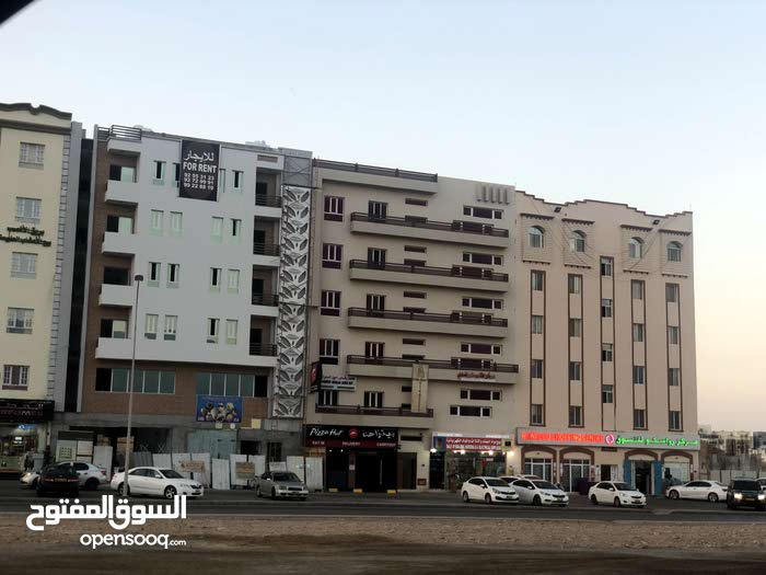 A commercial residential building in Al-Anas, same line as Bank Muscat & next Pizza Hut