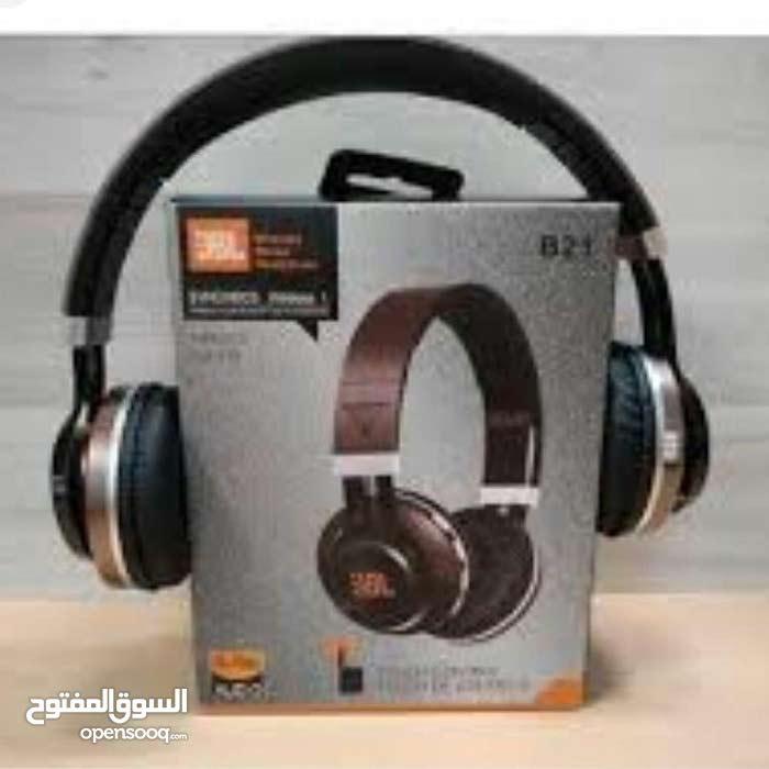 سماعة HEADPHONE JBL بلوتوث + wireless + كارت ميمورى صوت ستريو قوى و نقى جدا السم