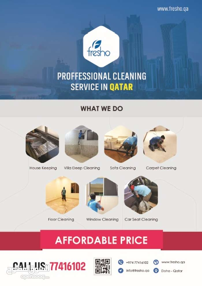 Professional cleaning services Qatar 77416102