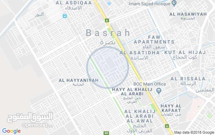 بصره_الخليج العربي(الجمعيات) قرب مدرسة مدينة المدن (نصف قطعة) مقابل خدمات