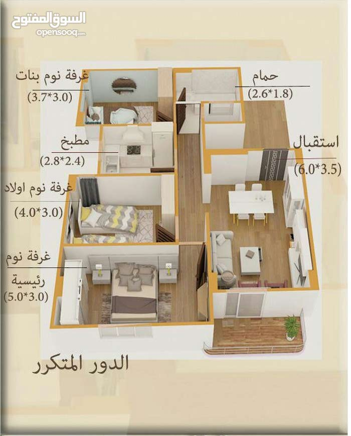 for sale apartment in Mansoura  - Mogmmaa El Mahakem
