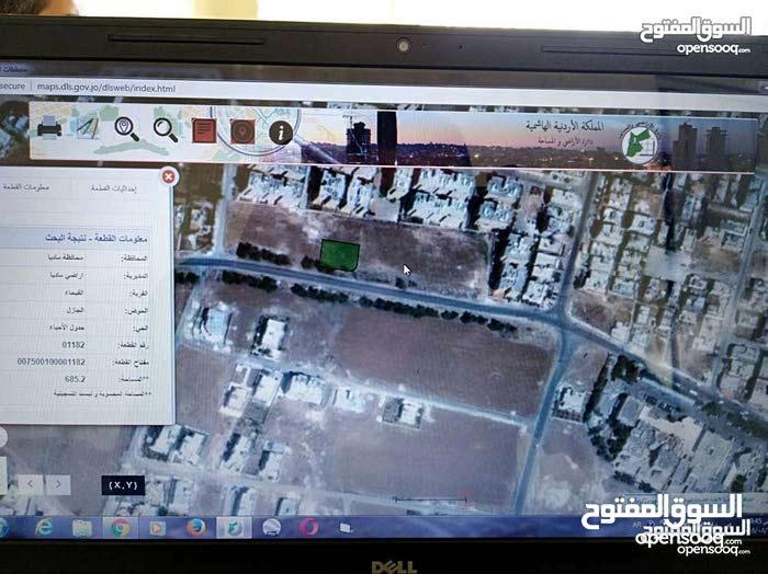 مادبا-الفيحاء-الجازل بعد مستشفى النديم أرض سكن للبيع  685م