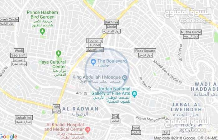 Third Floor  apartment for rent with 2 rooms - Amman city Tla' Ali