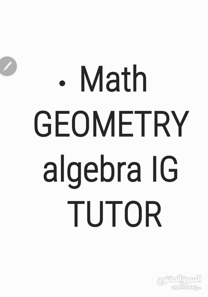 استاذ متخصص للرياضيات الاجنبية  math  geometry calculus algebra IGCSE tutor