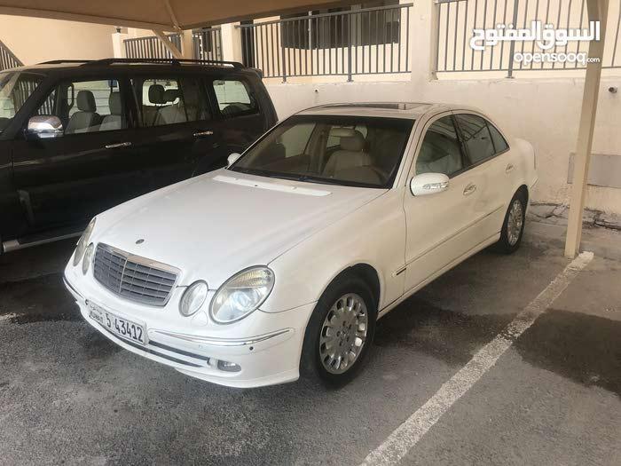 White Mercedes Benz E 240 2003 for sale
