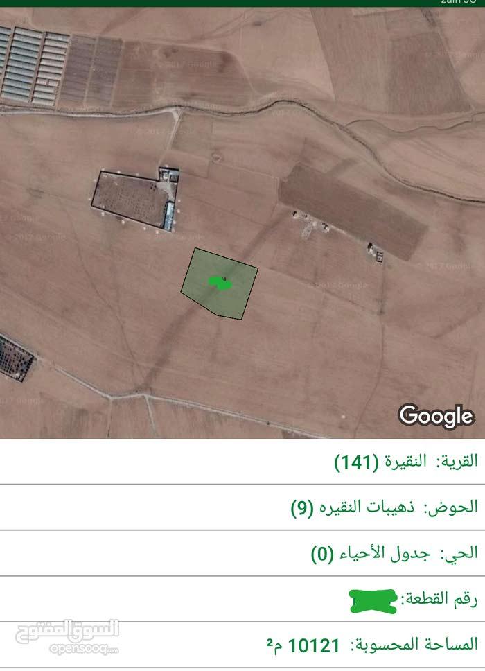 للبيع ارض 10 دونم في النقيره شارع الميه
