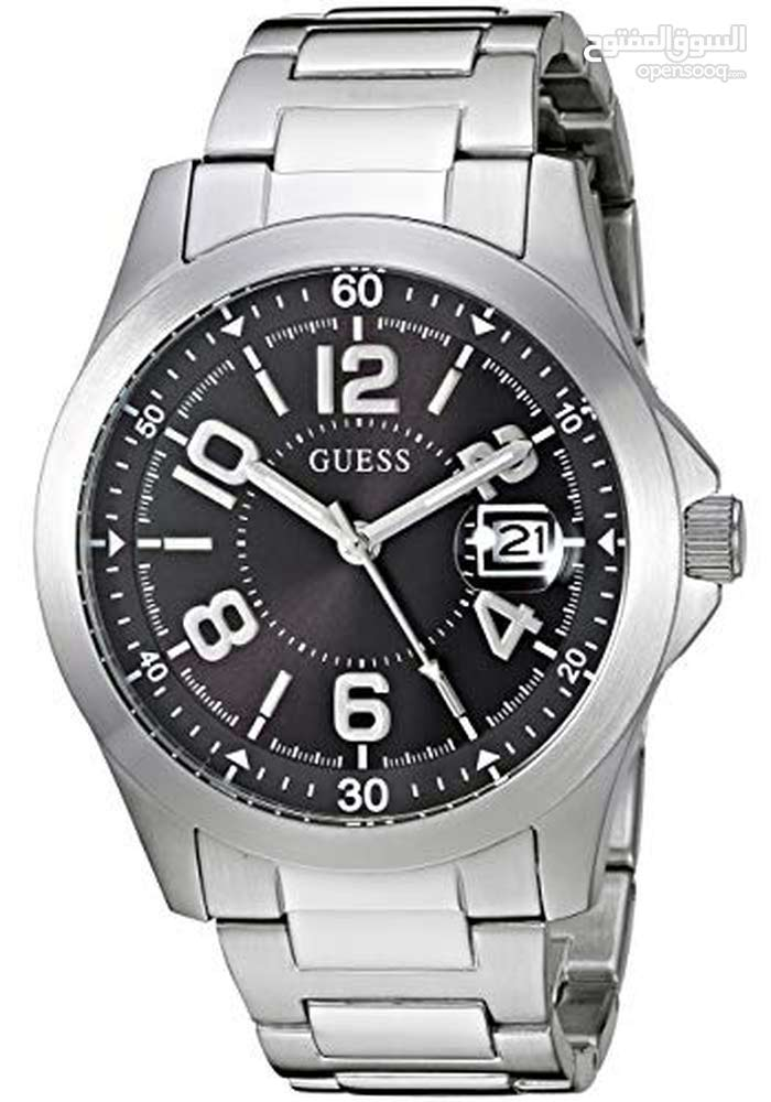GUESS Men's Stainless Steel Bracelet Watch, Color: Silver-Tone