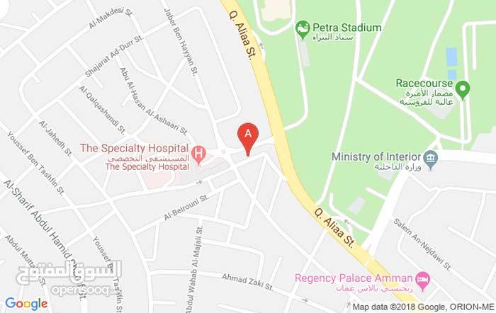 عيادة مميزه للايجار مؤثثه بالشميساني بموقع ممتاز قريب من المستشفى التخصصي(مجمع النور الطبي)