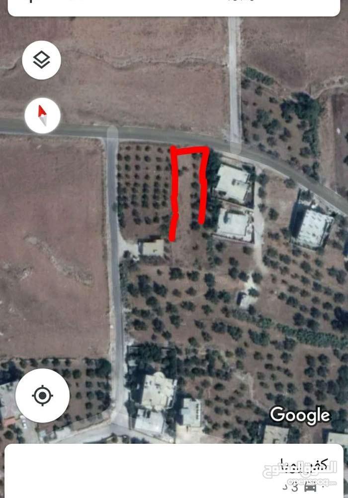 ارض للبيع في اربد كفريوبا طريق جمحه القديمه