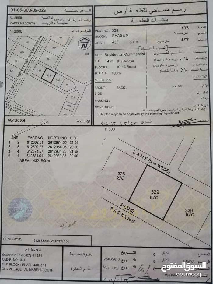ارض للبيع سكني تجاري المعبيله