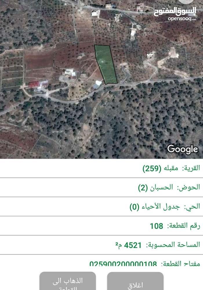 قطعة أرض للبيع مطله في أجمل مناطق جرش من المالك مباشره