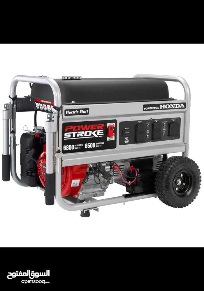 مولد كهرباء وارد أمريكي ماتور هوندا GX390 بنزين قدرة 7كيلو  شبه جديد.