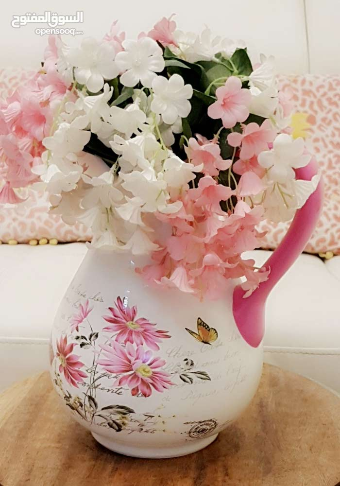 pretty vase with flowers