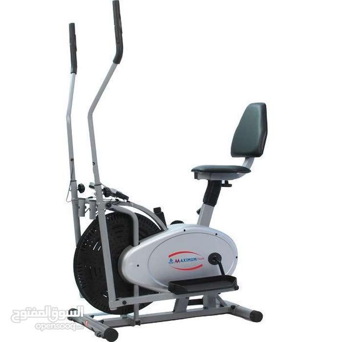 جهاز رياضة كروس اوربت ترك مع كرسي مسند للظهر للتمارين الرياضية و التنحيف فخم و عالي الجودة