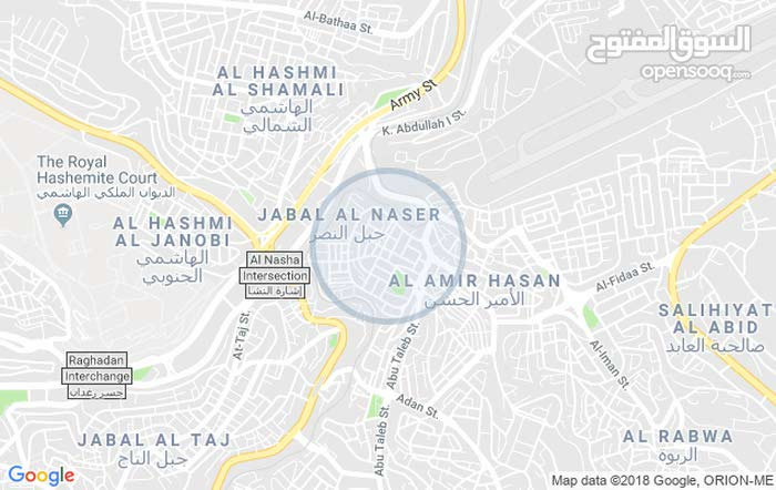 Jabal Al Naser apartment for rent with 2 rooms
