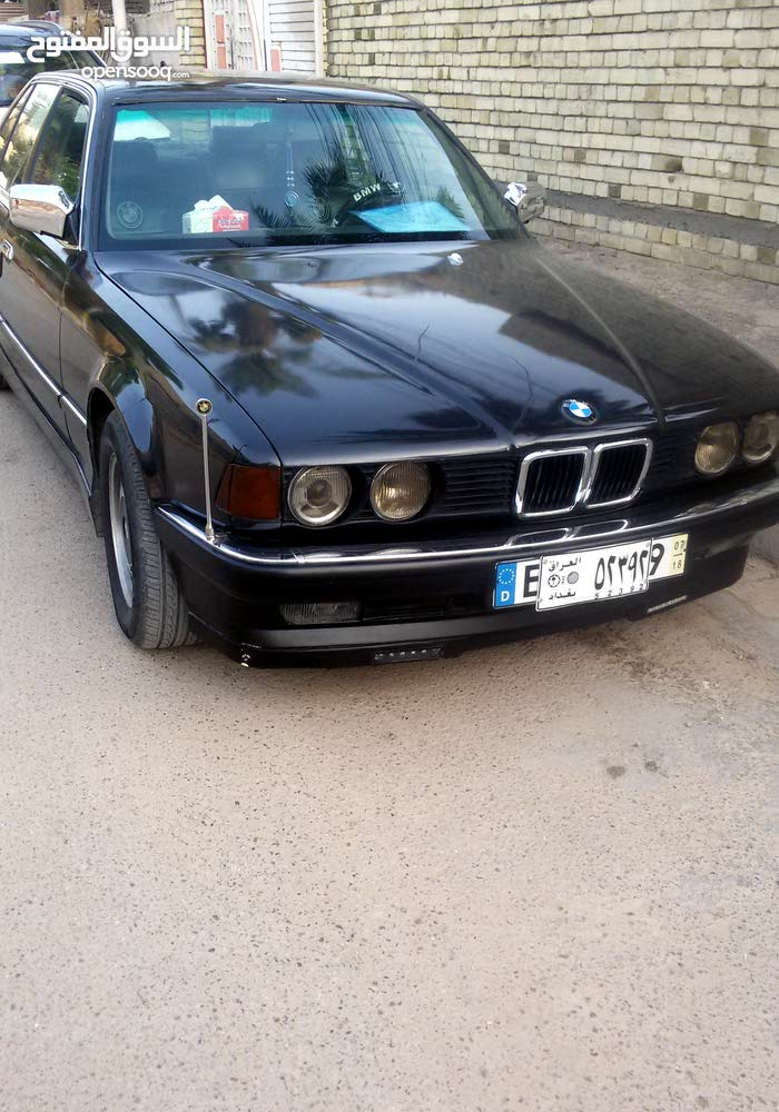 Automatic Black BMW 1990 for sale