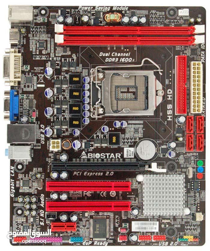 لوحة أم  Biostar ddr3 و معالج Core i5 @650 3.20ghz .