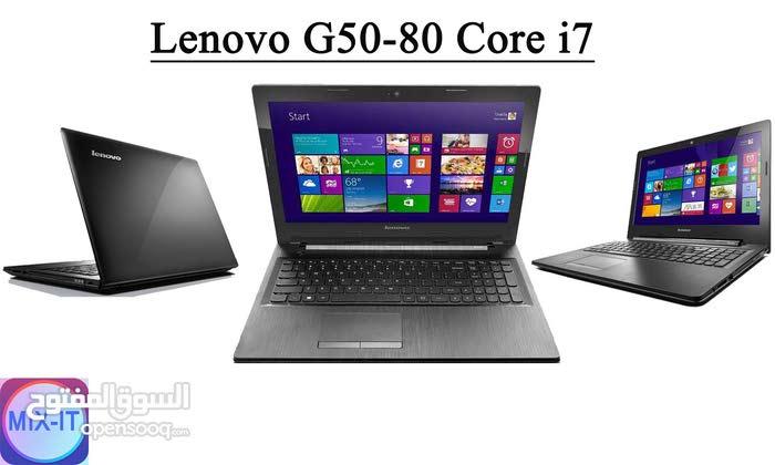 لابتوب Lenovo G50-80 Core i7 للمهندسين والمصصمين مستعمل فقط ب1800 شيكل