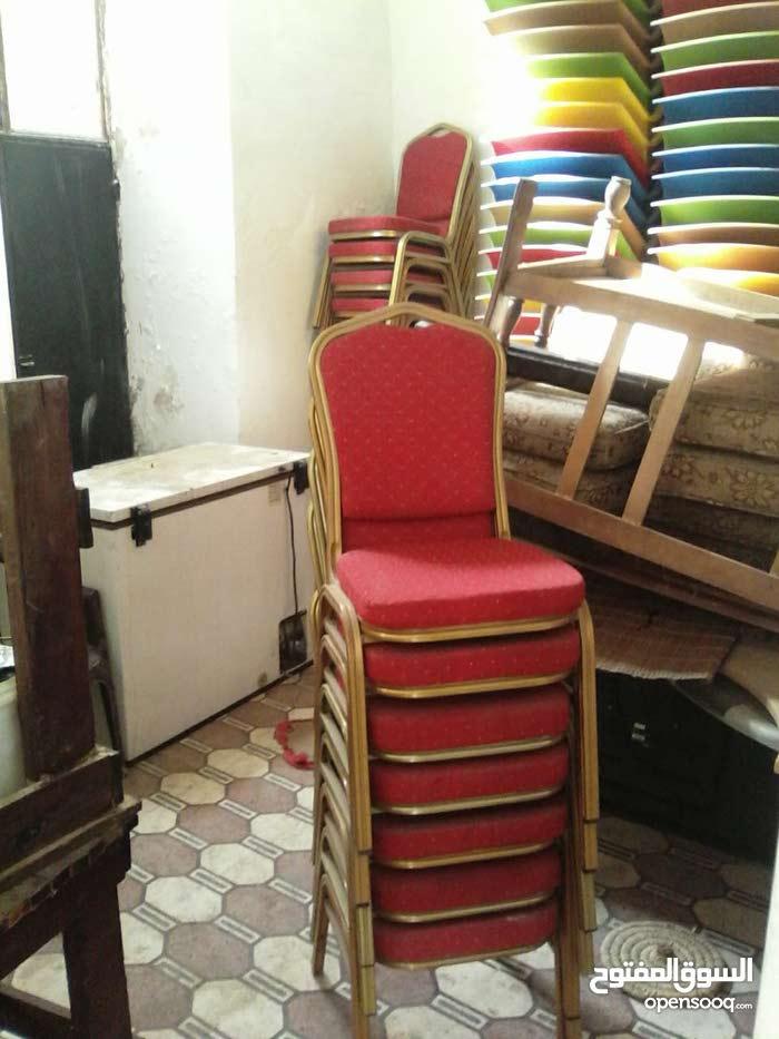 للبيع كراسي كروم لم تستخدم وكراسي خشب كوفي شوب دمياطي