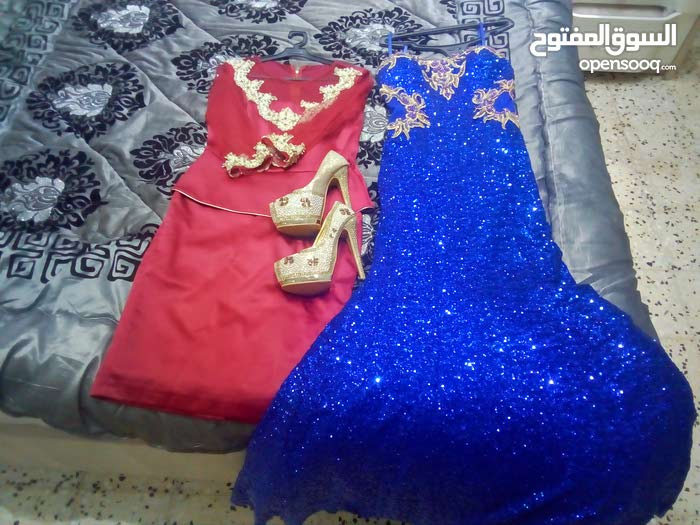 فستان حفلة وبدلة وكندره