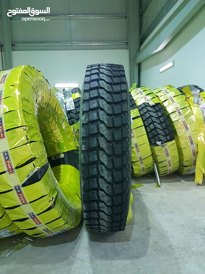 بيع وإصلاح إطارات الشاحنات والباصات Sale and repair of truck and bus tires