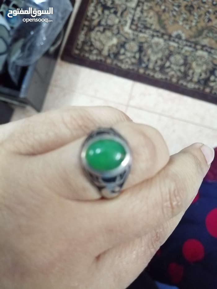 خاتم عقيق يماني اخضر
