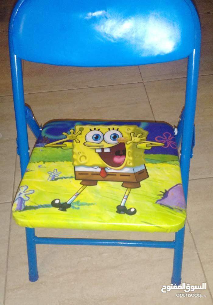 كرسي سبنش بوب معدني سهل الطي الكامل يتحمل 100كيلو