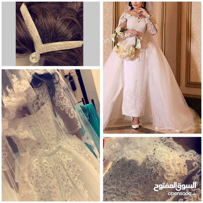 5aefbc5c10a95 فستان زفاف للبيع او الأجار ملبوس مره واحده فقط - (100244684)