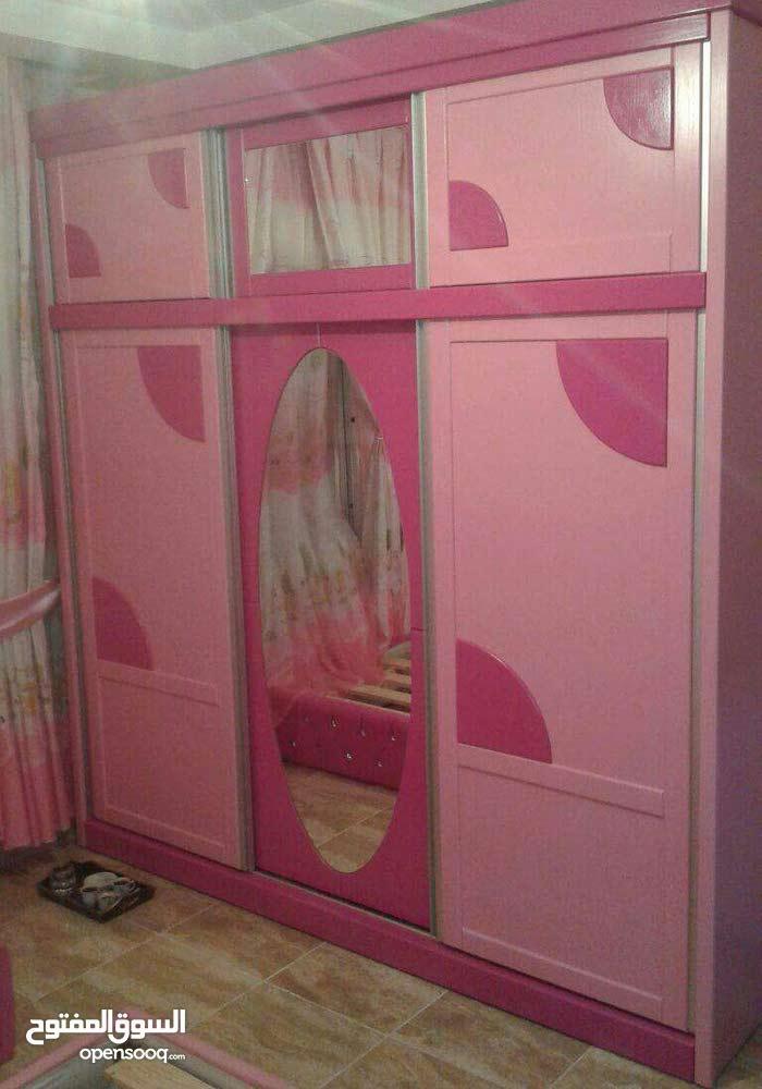 غرفة نوم بناتي خشب لاتيه