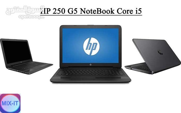 لابتوب HP 250 G5 NoteBook Core i5 الجيل السابع مستعمل فقط ب1500 شيكل