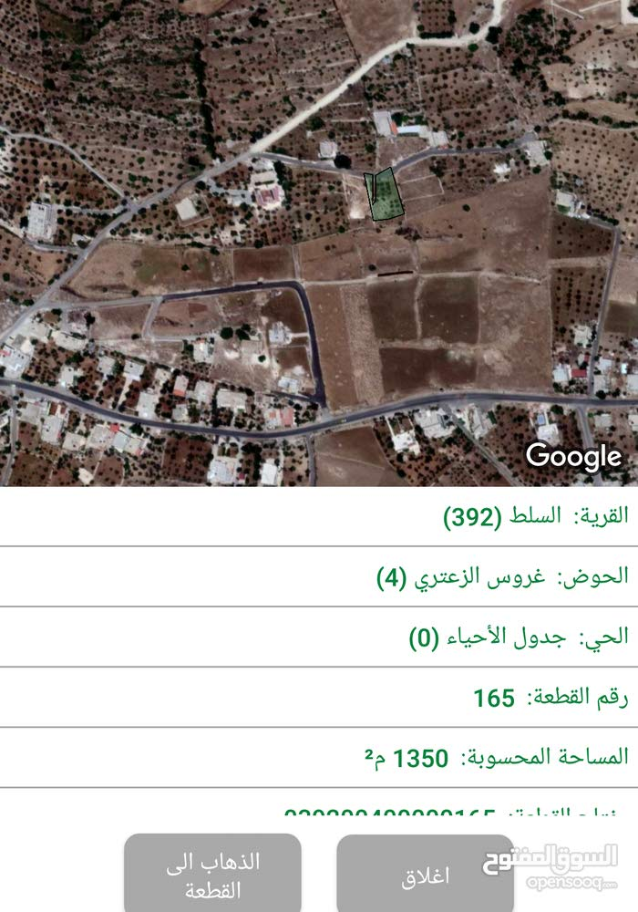 دونم و300  مشجرة   ومطلة للبيع  / الزعتري الغربي
