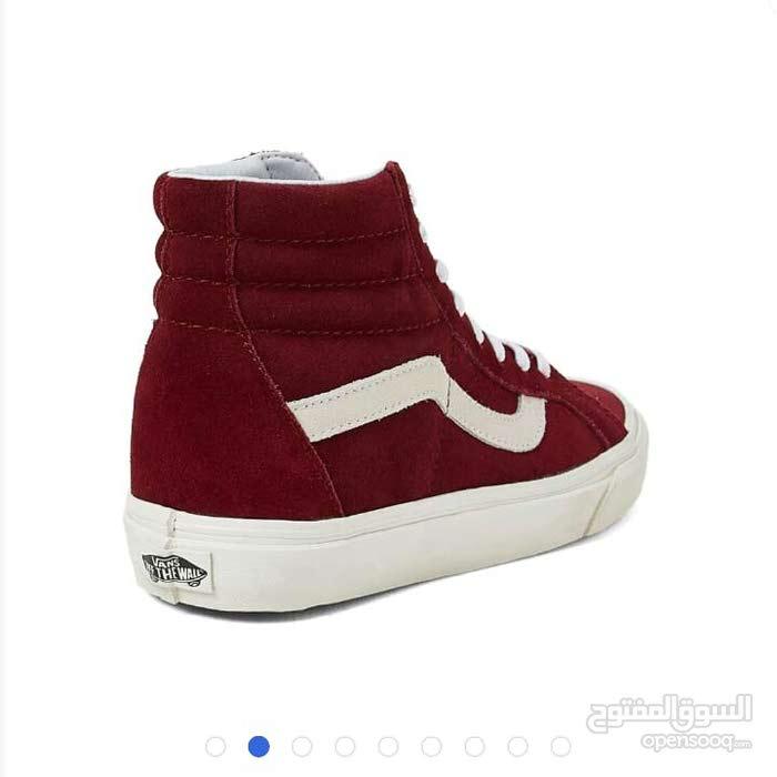 حذاء للجنسين فانز VANS عنابي شامواه جديد 290ريال