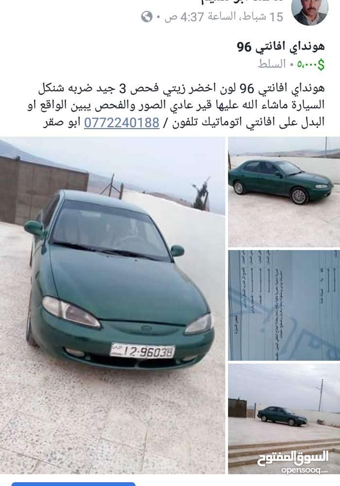 Green Hyundai Avante 1996 for sale