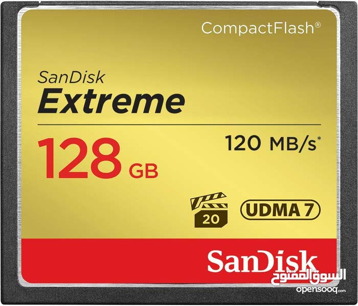 SanDisk Extreme CompactFlash Card ( for cameras ) 128GB, 120MB/s - SDCFXSB-128G-G46