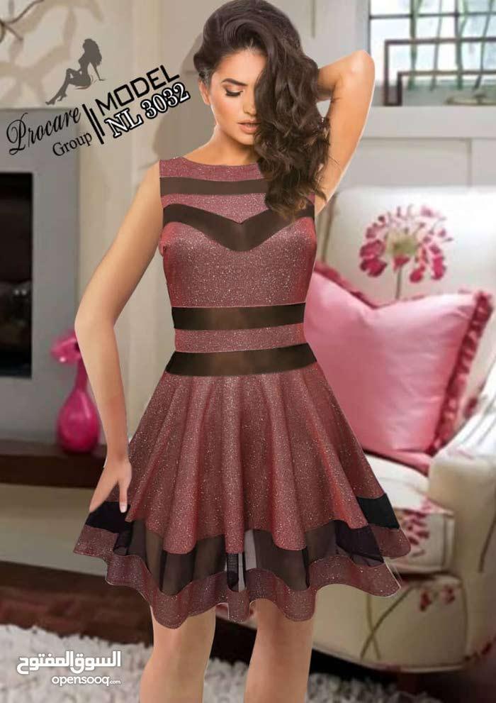 فستان قصير كريستال مبرق