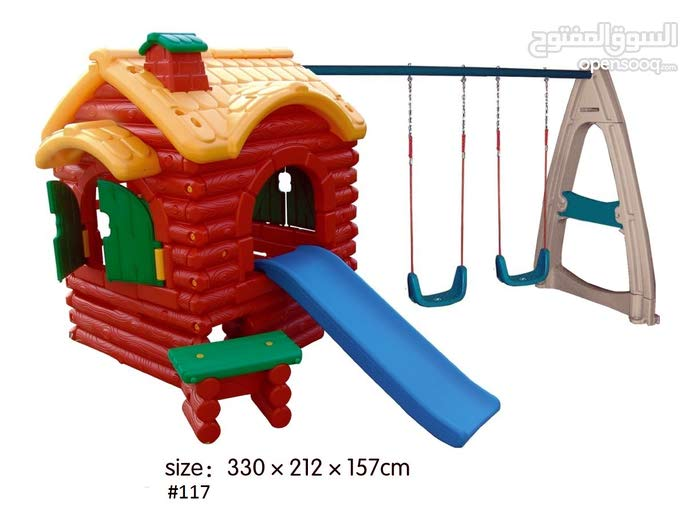 Kids Woods Play House With Swing Set House