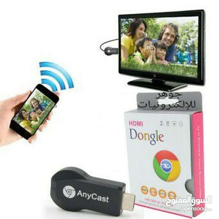 قطعة دونجل الاصلية لمشاهدة محتوى التلفون على الشاشة لاسلكي تعمل بنظام الاندرويد والابل