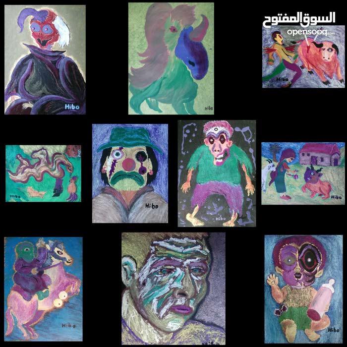 لوحات فنية لرسام مغربي عالمي