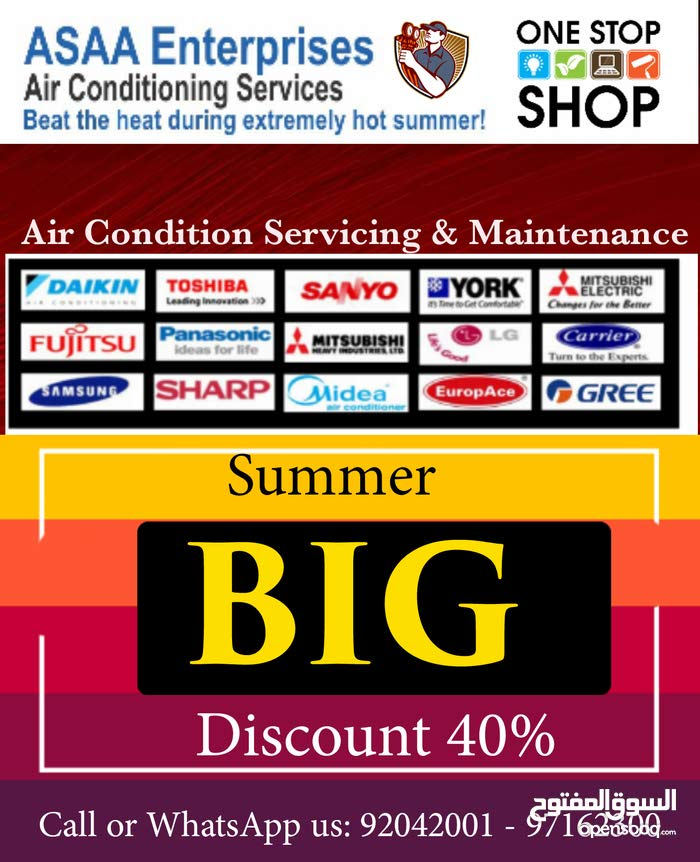Summer Special Offer 40% Discount on Air conditioning servicing