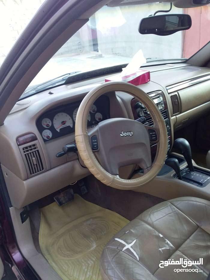 Maroon Jeep Grand Cherokee 2002 for sale
